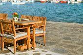 Cozy nook by the sea. Greece