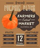 Vintage fresh pumpkin Patch Poster