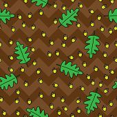 Acorns Seamless Pattern