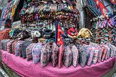 Nepali National Hats At Market