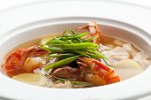foto of shrimp  - Spicy Soup with Meat Slice - JPG