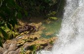 Contryside Waterfalls In El Nicho, Cuba