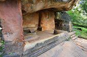 ancient seat in Sigiriya castle, Sri Lanka