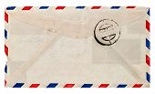 Vintage Airmail Envelope. Retro Post Letter