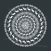 Ethnic seamless round pattern