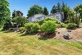 House With Walkout Deck And Backyard Garden