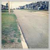 Street view of the Neighborhood with instagram effect
