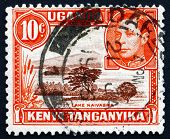 Postage Stamp K., U. And T. 1941 Lake Naivasha