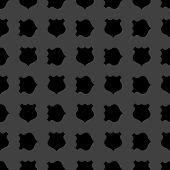shield web icon. flat design. Seamless gray pattern.