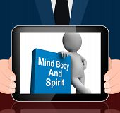 Mind Body And Spirit Book With Character Displays Holistic Books