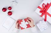 Giftboxes and decorative toys for Christmas