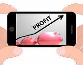 Profit Arrow Displays Sales And Earnings Projection
