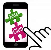 Kids Club Puzzle Displays Play And Fun For Children