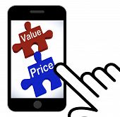Value Price Puzzle Displays Worth And Cost Of Product