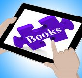 Books Tablet Means E-book Or Reading App