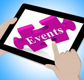 Events Tablet Shows Calendar And What's On