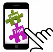 Hints Tips Puzzle Displays Suggestions And Assistance