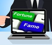 Fortune Fame Keys Displays Wealth Or Publicity