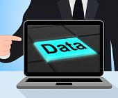 Data Button Displays Facts Information Knowledge