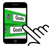 Goals Folders Displays Direction Aspirations And Targets
