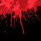 picture of emo  - Blood splatter background - JPG