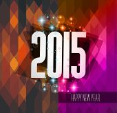 Original 2015 happy new year hipster background with squared paths and blend shadows.