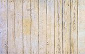stock photo of wood pieces  - Old Damaged Light Wood Surface with Peeling Paint Pieces as Background or Texture - JPG