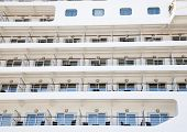 Fancy big cruise ship detail