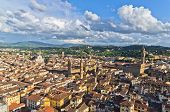 Aerial panoramic view of Florence from one of many towers, Tuscany