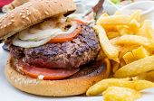 stock photo of cheese-steak  - Cheese burger  - JPG