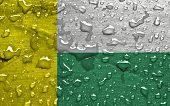 flag of Zielona Gora with rain drops
