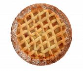Apple Lattice Pie isolated on white