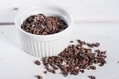 Bowl Of Raw Cacao Cocoa Nibs