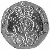 British 20p Piece
