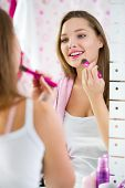 stock photo of face-powder  - 