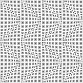 Design Seamless Monochrome Warped Zigzag Pattern