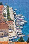 Hvar Yachtin Harbor Aerial View