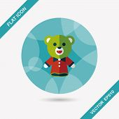Bear Hand Puppet Flat Icon With Long Shadow,eps10Bear Hand Puppet Flat Icon With Long Shadow,eps10