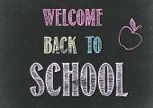 Welcome Back To School Chalkboard