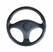 picture of steers  - Steering wheel of a car isolated on white background - JPG