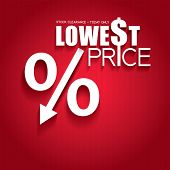 Lowest price. Sale poster.