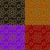 Seamless Pattern Of Thin Circles