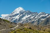 Hiking track in Mount Cook National Park