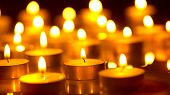 foto of candle flame  - Candles light background - JPG