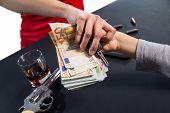 image of loan-shark  - Gangster hijacks money - JPG