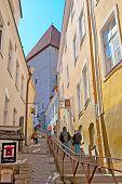 Tallinn. Estonia. Short Leg Street
