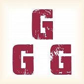 Grunge vector G letter