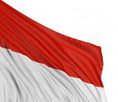 3D Indonesian flag