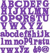 Letter Vector-Purple Diamonds