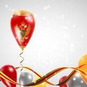 Flag of Montenegro on balloon